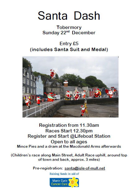 Santa Dash around Tobermory